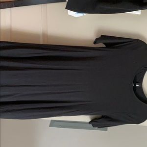 Black swing tunic top/dress